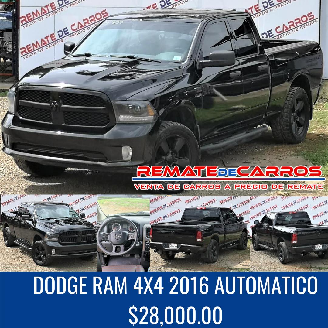DODGE RAM 4X4 2016 AUTOMATICO