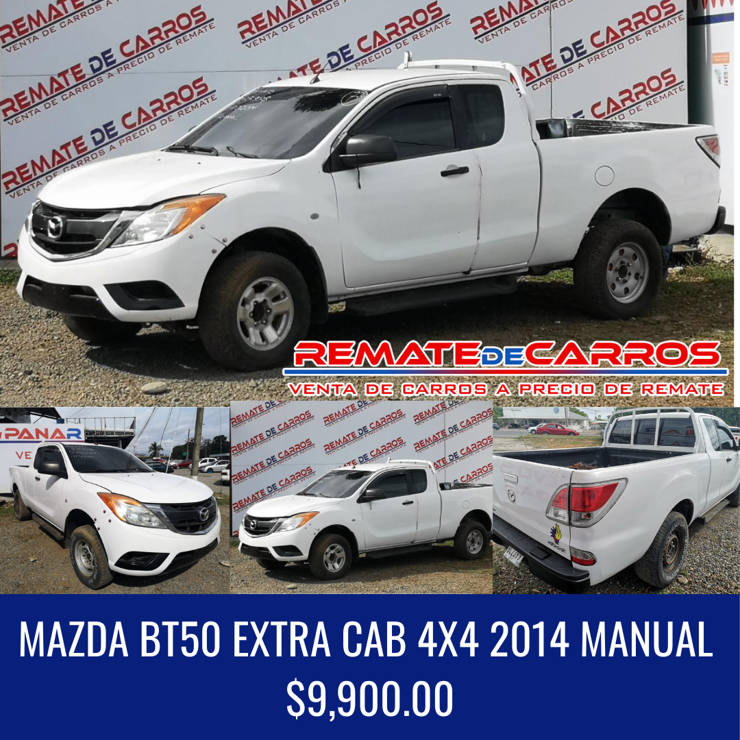 MAZDA BT50 EXTRA CAB 4X4 2014 MANUAL