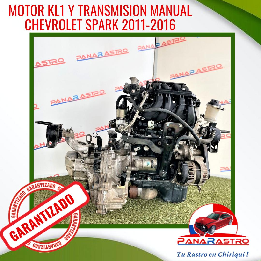 MOTOR Y TRANSMISION MANUAL CHEVROLET SPARK 2011-2016